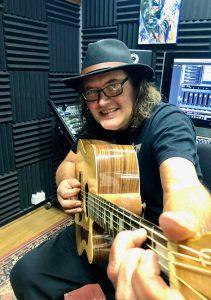 Adam Jones guitar in studio